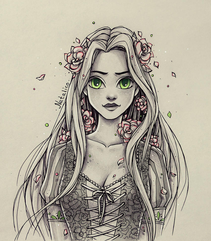 Roses In The Hair By Natalico On Deviantart
