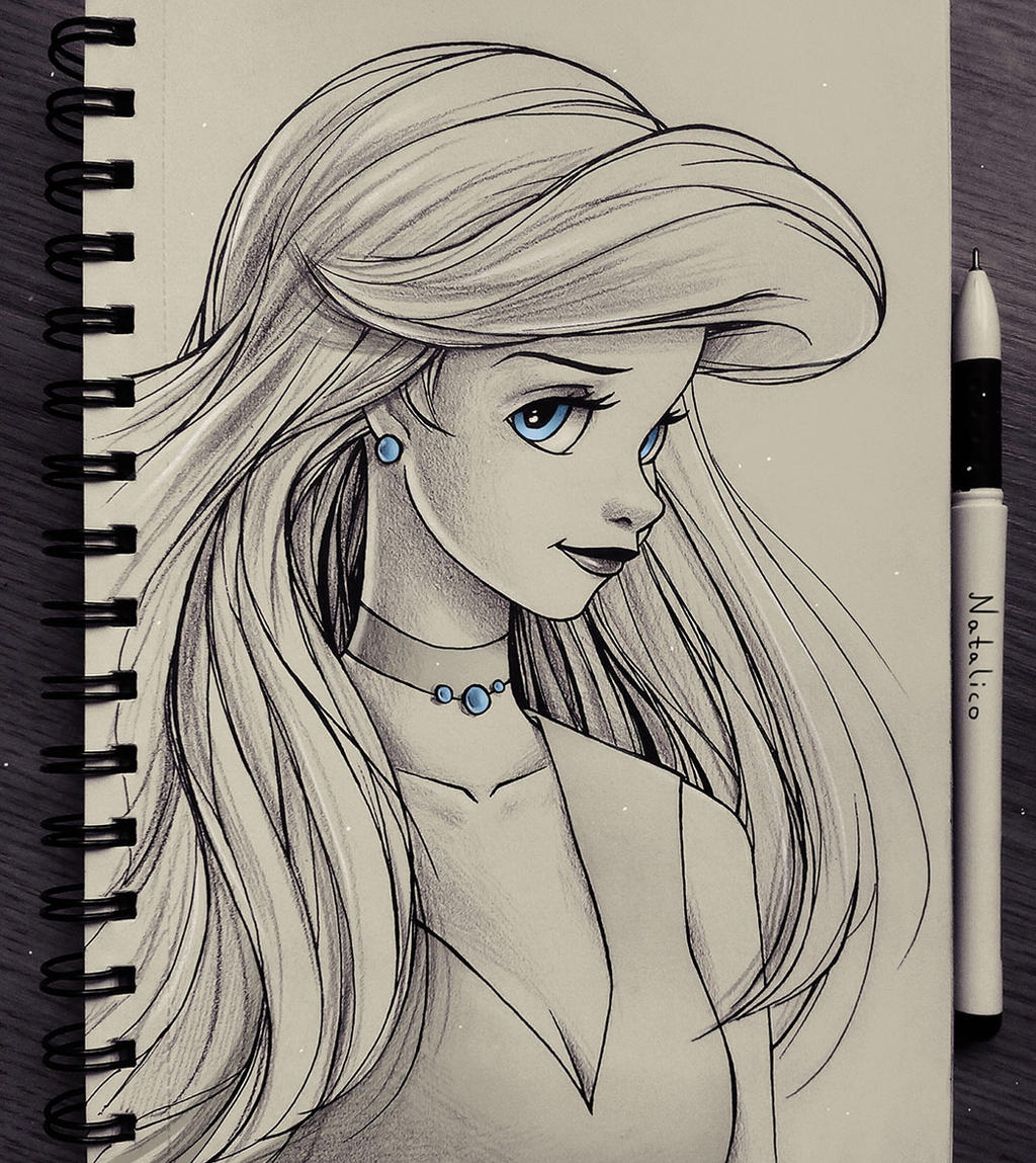 portrait of ariel by natalico on deviantart