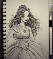 New dress for Belle