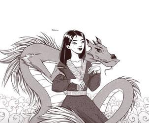 Mulan and Mushu