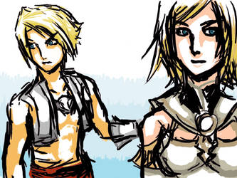 FFXII Vaan and ashley by U-NiKe