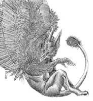Full Moon Gryphon by Zethelius