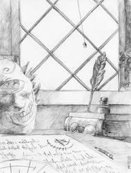 The Wizard's Desk by Zethelius