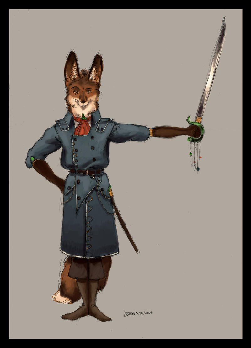 Sword-holder Fox by Zethelius