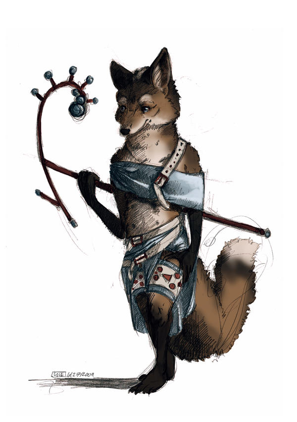Vixen with a Staff by Zethelius