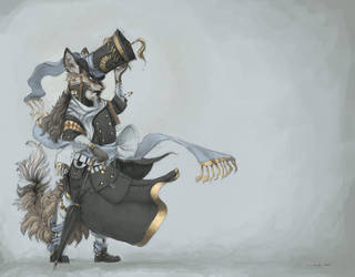 Tallhat Wizardfox by Zethelius