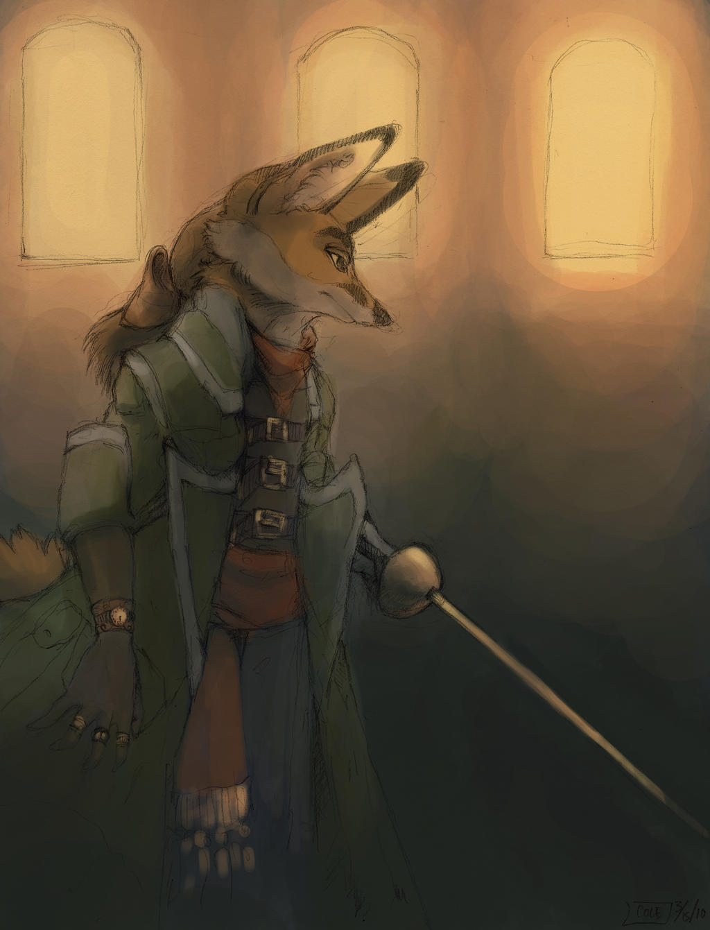 Fox with a Foil by Zethelius