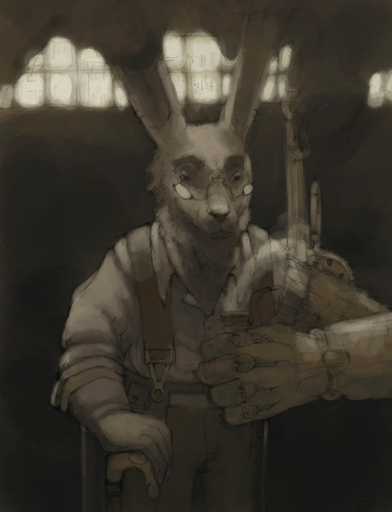 Steampunk Rabbit Redux by Zethelius