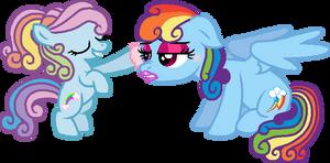 Rainbow Dazzle and Rainbow Dash