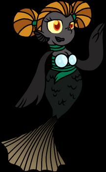 Black Moor Mermaid