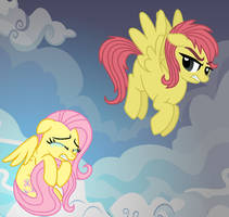 Old Fluttershy and New Fluttershy