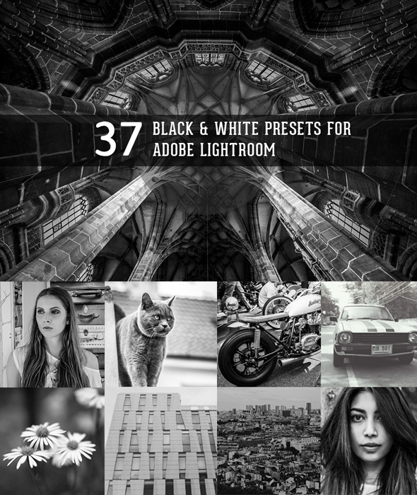 Black and White presets for Lightroom by hombre-cz