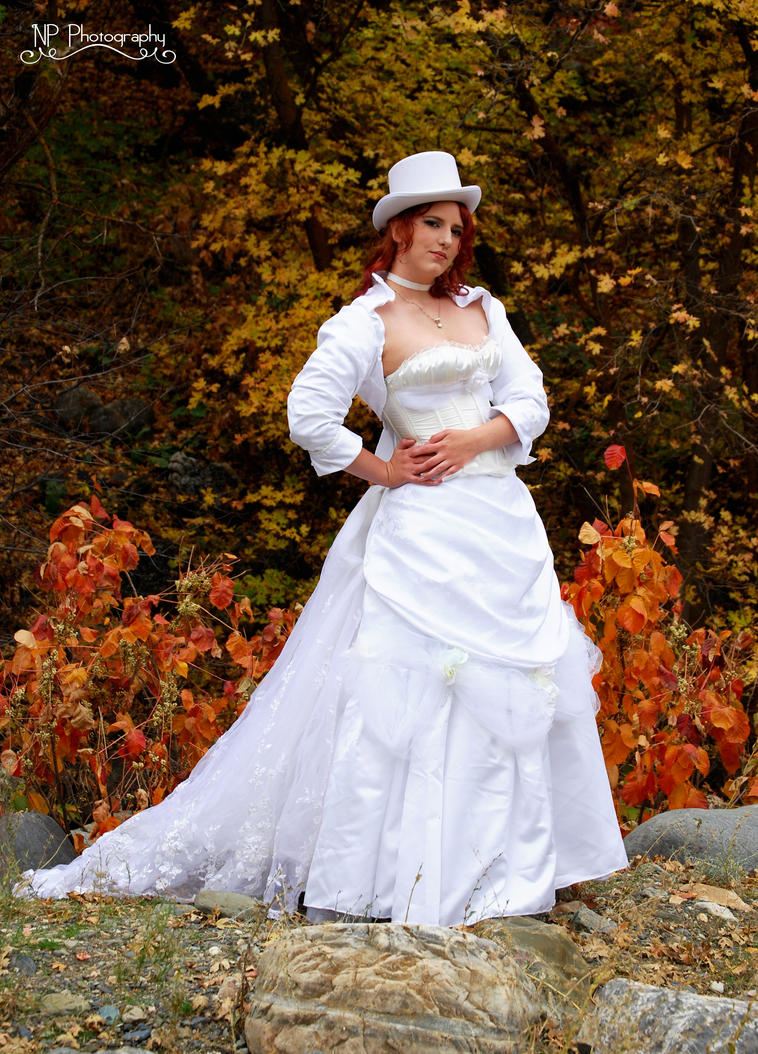 Steampunk wedding gown by Silver-Fyre on DeviantArt