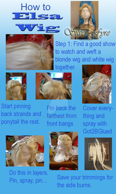 Elsa Frozen wig how to tutorial by Silver-Fyre