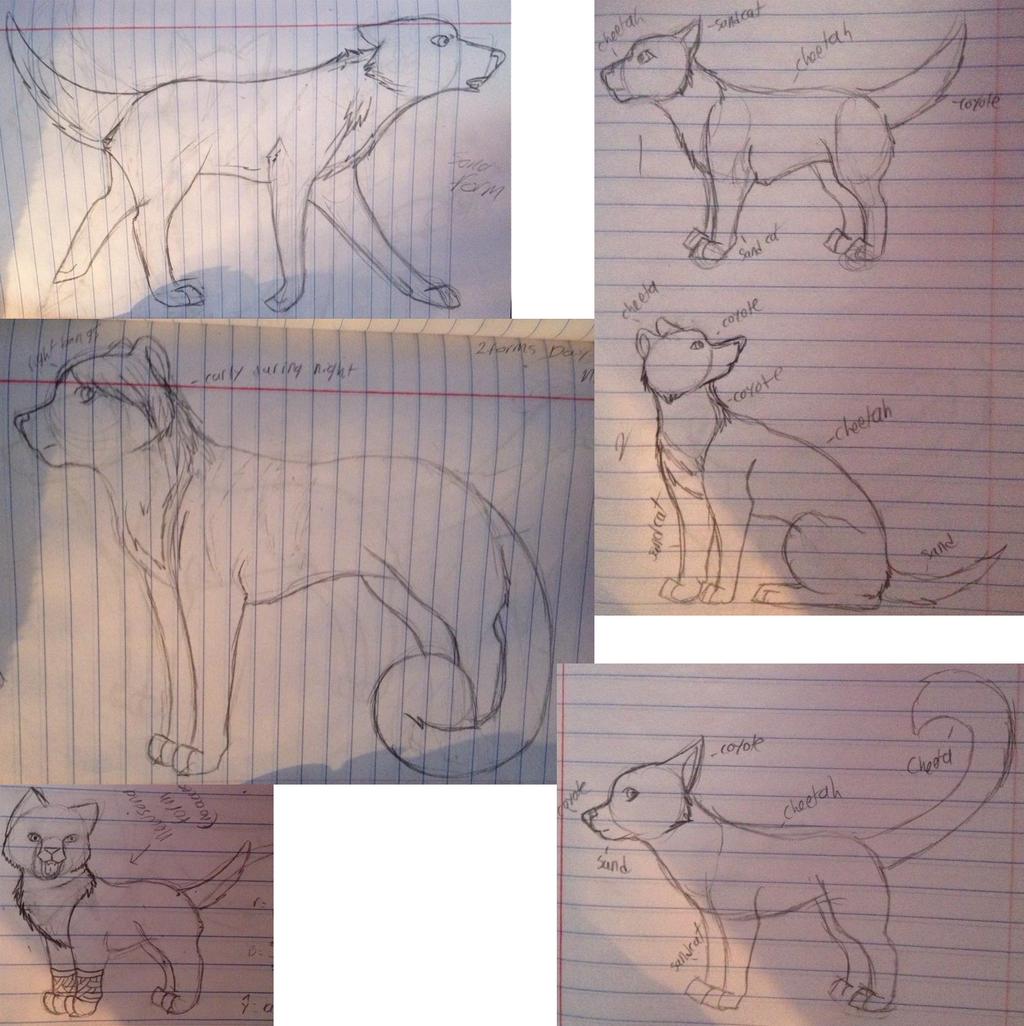 Fursona Sketches by ki-neko-animura