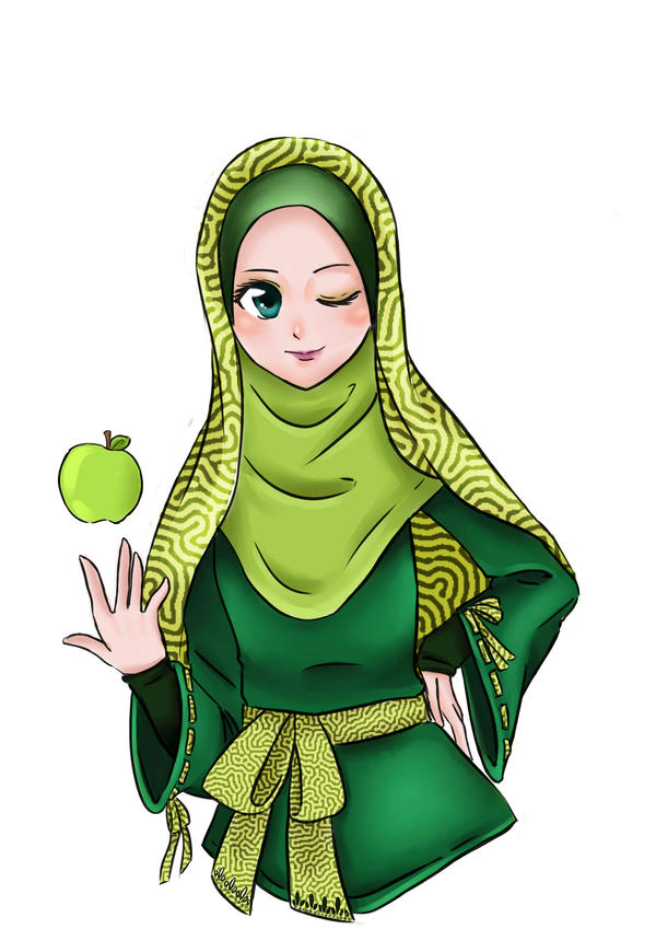 Anime Hijab Cadar Applemints By Diddywut On Deviantart