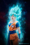 Goku Super Saiyan Blue (genderbend) by MolecularAgatha