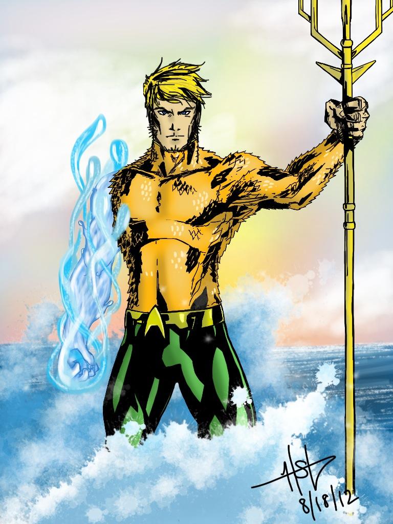 Aquaman Drawing On IPad By Creeeeeees On DeviantArt