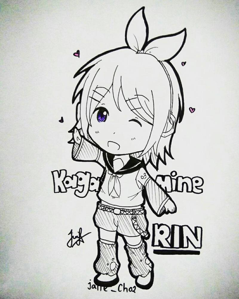 Kagamine Rin (Vocaloid) by JaneChristie