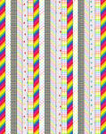 Rainbow Patterned Star Papers