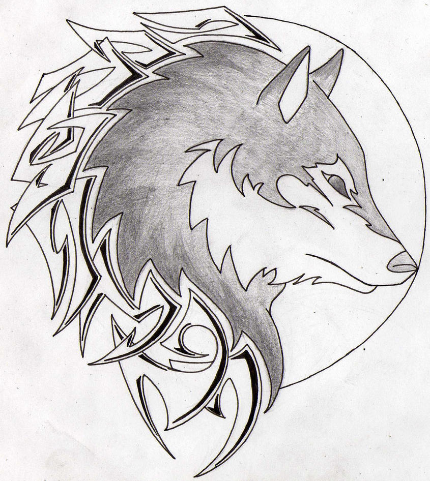 Tribal-Tattoos wolf_i_a_moon_tribal_tattoo_by_aglinskas-d4smdiq