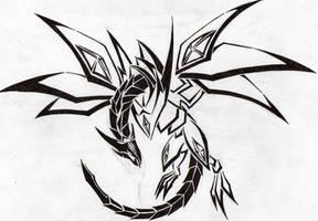 Red Eyes Darkness Dragon Tribal by Aglinskas