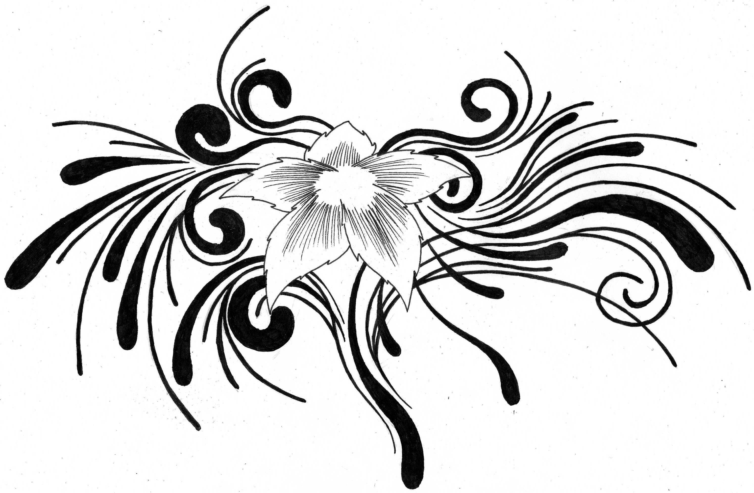 tribal flower tattoo by aglinskas on deviantart. Black Bedroom Furniture Sets. Home Design Ideas