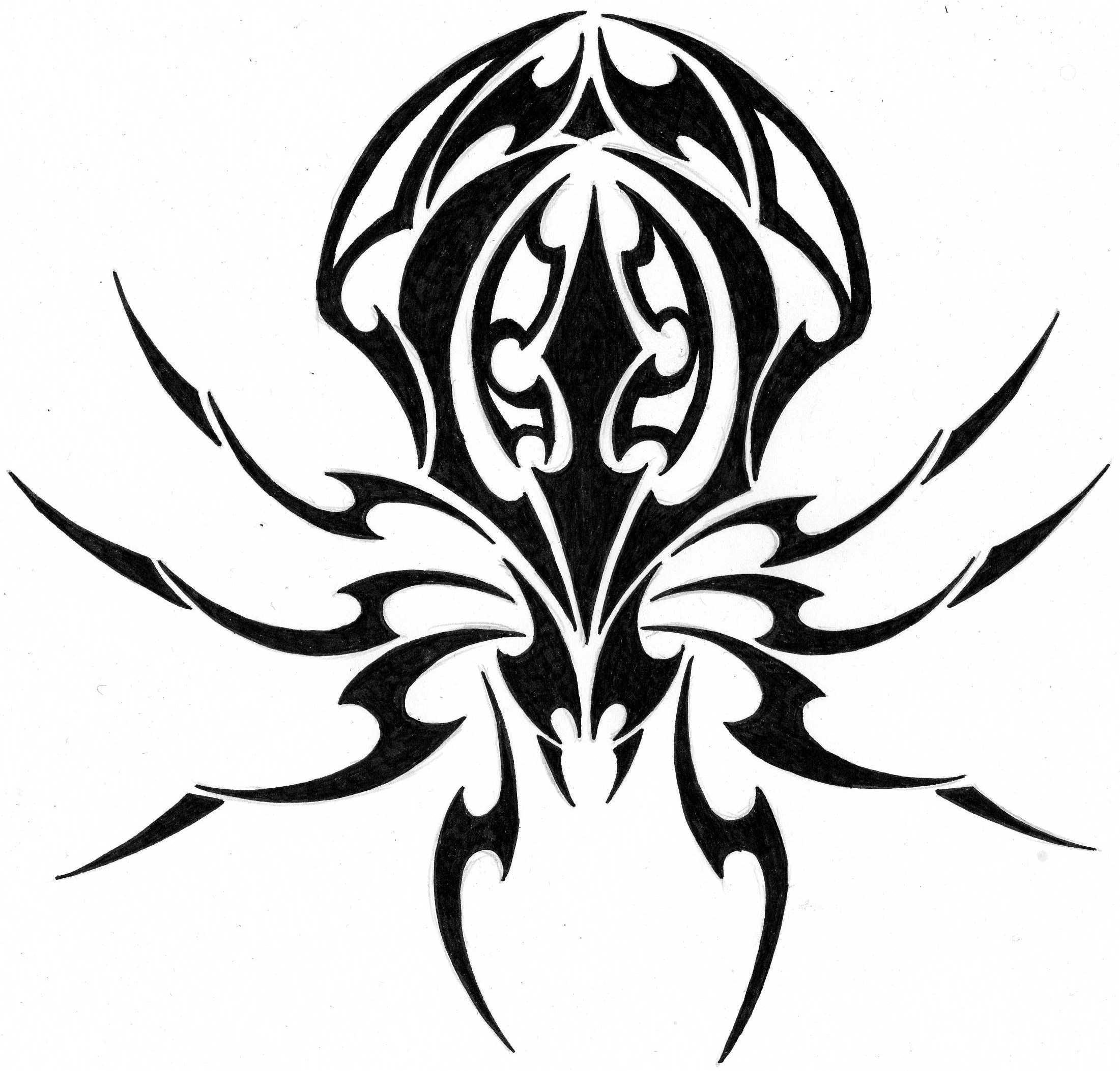 Spider Tribal tattoo by Aglinskas on DeviantArt