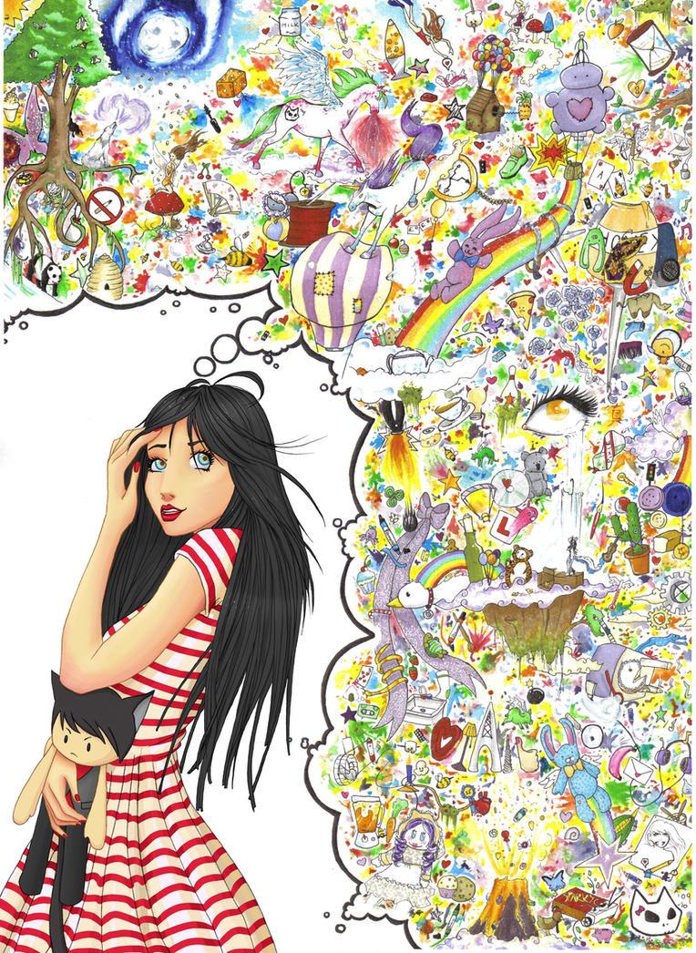 .:She Dreams In Technicolour:. by minibubble