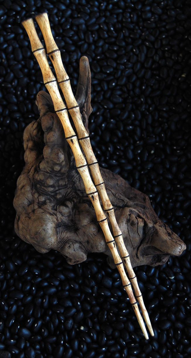 Carved Bamboo Chopsticks by DreamingDragonDesign