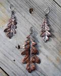 White Oak Leaf Set in Copper