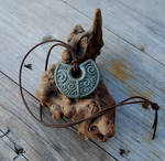 Earth Spirals Carved Pendant