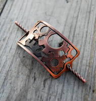 Copper Gears Barrette by Wyrdhaven
