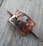 Copper Gears Barrette