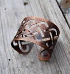 Distressed Copper Knotwork Bracelet