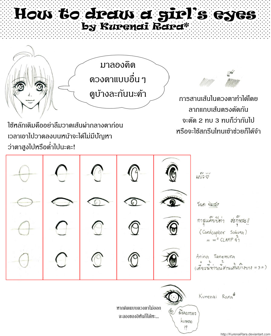 How to draw a girl's eyes by KurenaiRara
