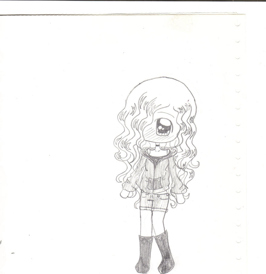 Cute chibi girl by xxcoffeeaddictxx on deviantart for How to draw a cute girl easy