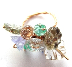 Springtime Softly ring by sojourncuriosities