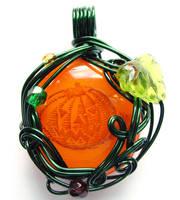 Jack O' Lantern Pendant by sojourncuriosities