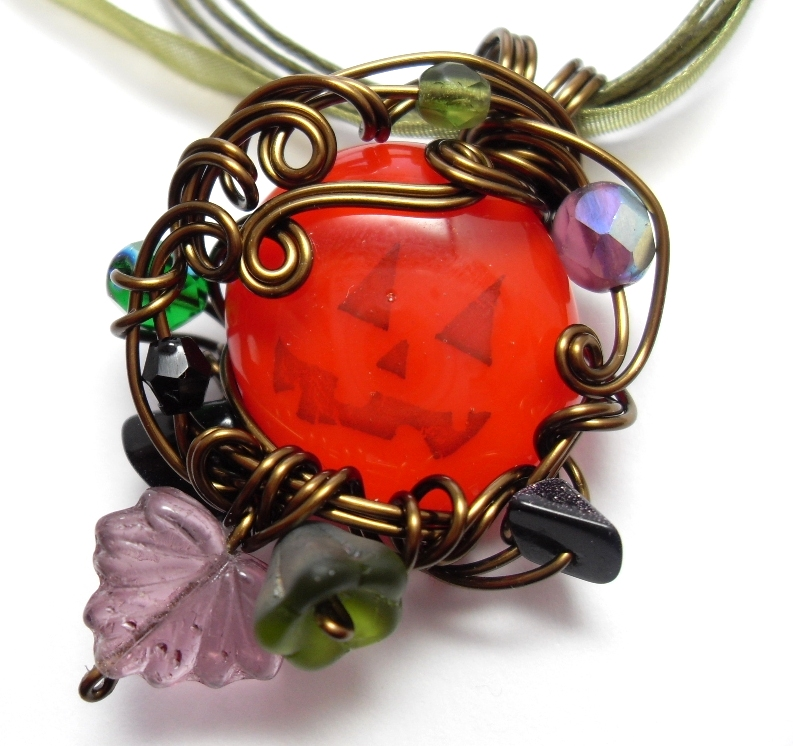 Jack o' Lantern Necklace by sojourncuriosities