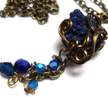 Space and Time Necklace no. 4 by sojourncuriosities