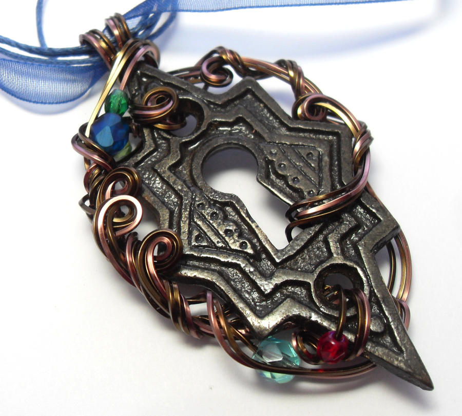 Passage Keyhole Necklace by sojourncuriosities