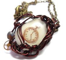 Clockwork Necklace by sojourncuriosities