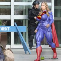 Supergirl Season X (Walking on the set) by MRCALIBAN