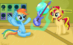 Sunset and Rainbow by TheGarry-D