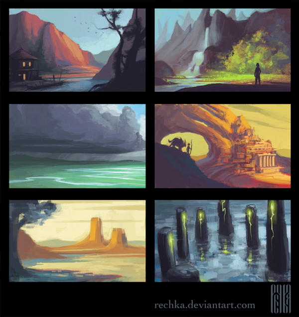 Environment Thumbnails by Rechka