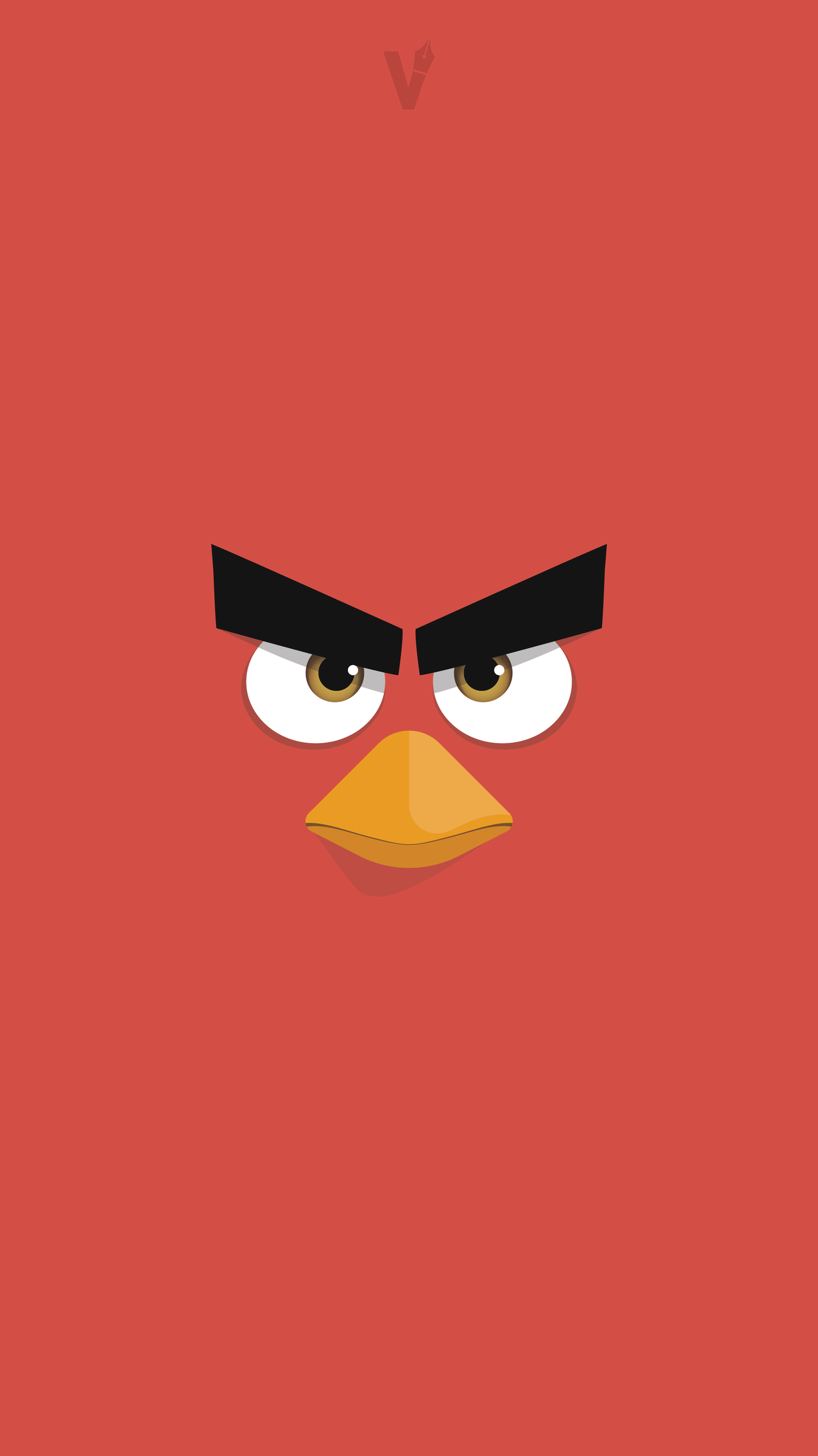 red - angry birds flat wallpaper/lockscreen.armaghanbashir on
