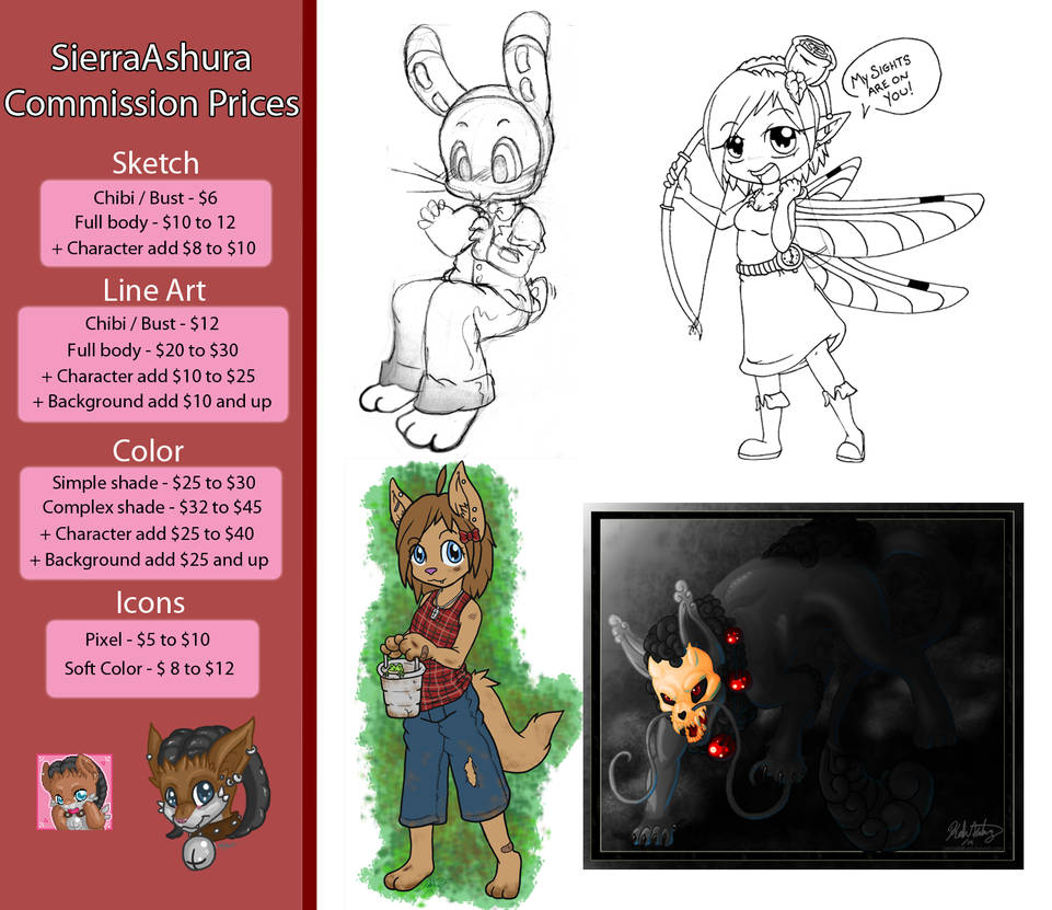 Commission Pricelist