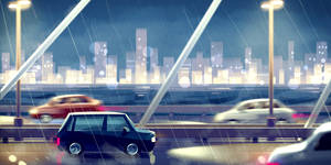 Highway, Rainy Night - Concept by cling17