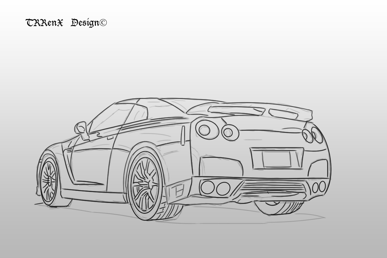 Nissan Skyline Sketch Nissan Skyline R35 Back